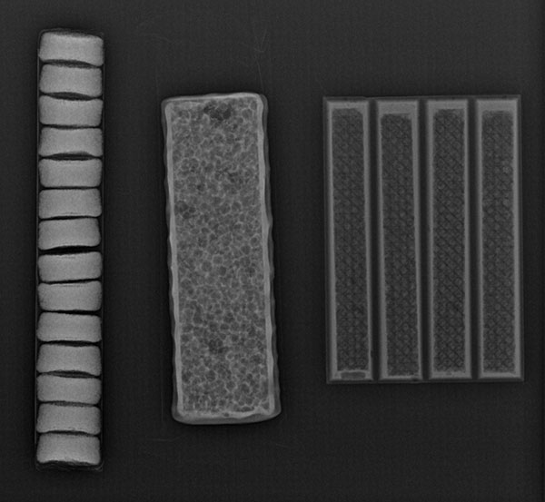 X-ray of three objects. Can you guess what they are?