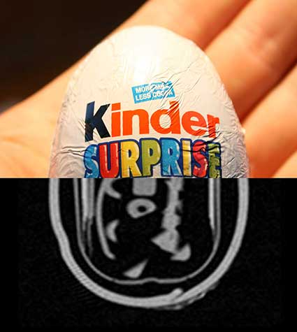 Kinder egg x-ray hybrid photo